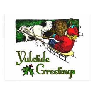 Tarjeta de felicitaciones de Yuletide Tarjetas Postales