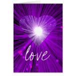 "Tarjeta de felicitaciones del ""amor"" de Purple Hea"