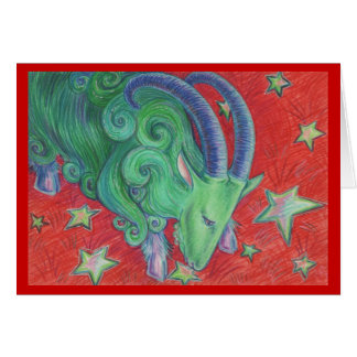 Tarjeta de felicitaciones del Capricornio del zodi