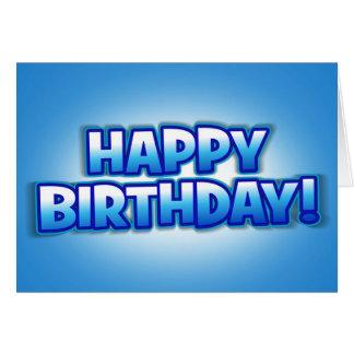 Tarjeta de felicitaciones del feliz cumpleaños del
