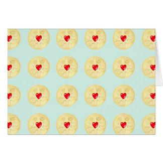 Tarjeta de felicitaciones del modelo de la galleta