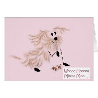 Tarjeta de felicitaciones del MOO de Minkie -