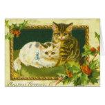 Tarjeta de felicitaciones del navidad del gatito