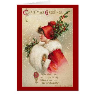 Tarjeta de felicitaciones del navidad del Victoria