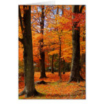 Tarjeta de felicitaciones del otoño