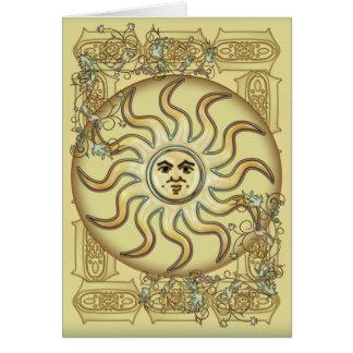 Tarjeta de felicitaciones del símbolo de Sun