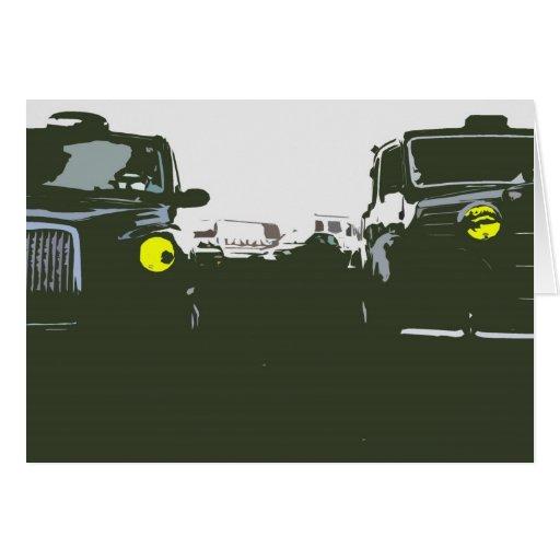 Tarjeta de felicitaciones del taxi de Londres