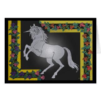 Tarjeta de felicitaciones del unicornio
