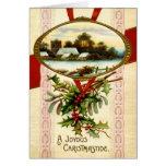 Tarjeta de felicitaciones del vintage del navidad