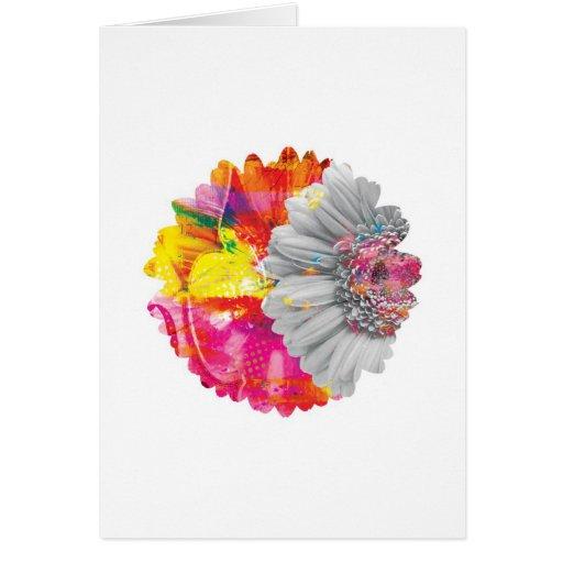 Tarjeta de felicitaciones floral de los Arty abstr