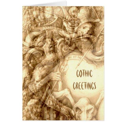 Tarjeta de felicitaciones gótica