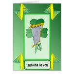 Tarjeta de felicitaciones irlandesa de la arpa