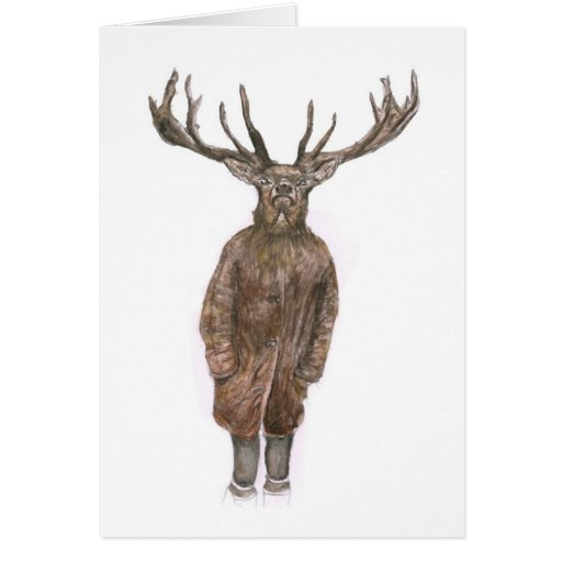 Tarjeta de felicitaciones misteriosa de los ciervo