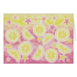 Tarjeta de felicitaciones rosada de la limonada