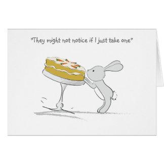 Tarjeta de felicitaciones simple del conejito