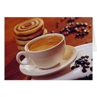 Tarjeta de fichar 1 del café o del té