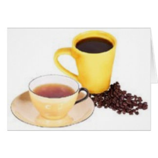 Tarjeta de fichar 2 del café o del té