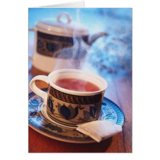 Tarjeta de fichar 3 del café o del té