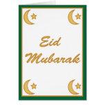 Tarjeta de Fitr del al de Eid Mubarak Eid