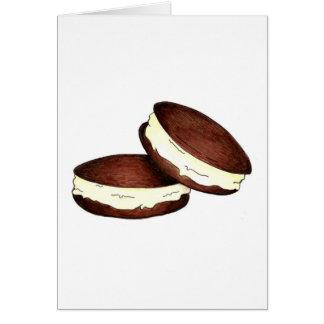 Tarjeta de Foodie del postre de las empanadas de