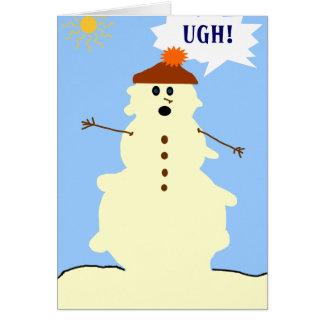 tarjeta de fusión del muñeco de nieve