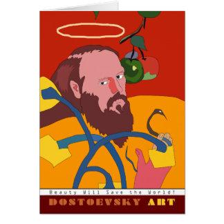Tarjeta de Gauguin del arte de Dostoevsky