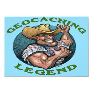 "Tarjeta de Geocaching Invitación 5"" X 7"""