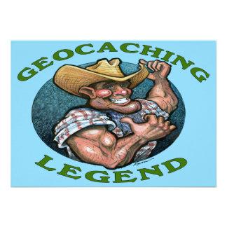 Tarjeta de Geocaching Invitacion Personalizada