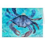 Tarjeta de Ggreeting del cangrejo azul