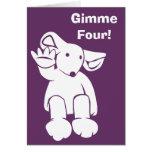 Tarjeta de Gimme cuatro