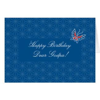 Tarjeta de Godpa del feliz cumpleaños del modelo d