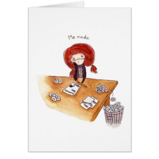 Tarjeta de Gracias Greeting Card