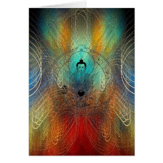 Tarjeta de Greating de la energía de Buda