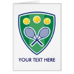 Tarjeta de Greating del tenis para los hombres, la