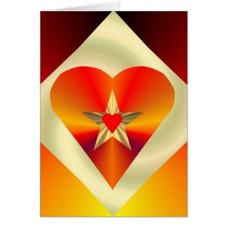 Tarjeta de Greting de la estrella del corazón del