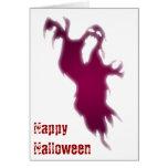 Tarjeta de griterío del feliz Halloween del fantas