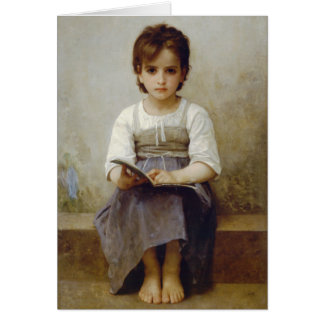 """Tarjeta de Guillermo Bouguereau """"de la lección dif"""
