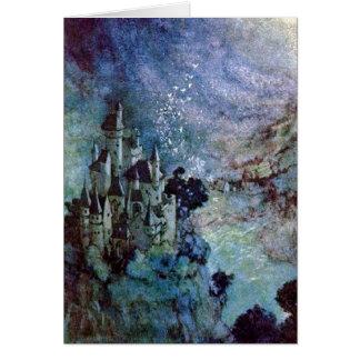 Tarjeta de hadas de la bella arte de Edmund Dulac