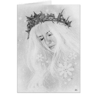 Tarjeta de hadas de la corona de la hiedra de Elve
