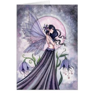 Tarjeta de hadas de la noche púrpura mística por M