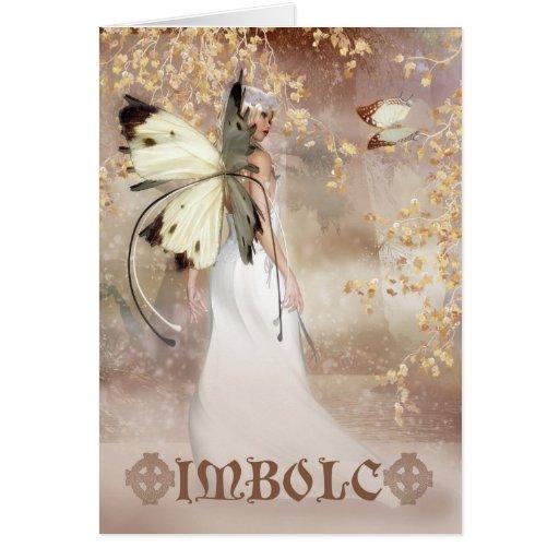 Tarjeta de hadas del arte de la fantasía de Imbolc
