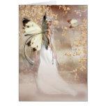 Tarjeta de hadas del arte de la fantasía en blanco