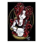 Tarjeta de hadas del arte de la serpiente pelirroj