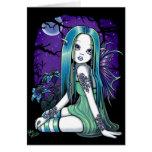 Tarjeta de hadas del arte de Lilly de la luna góti
