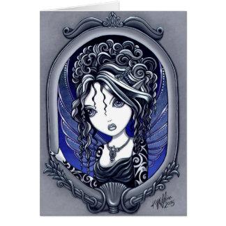 "Tarjeta de hadas del arte del tatuaje gótico de ""A"