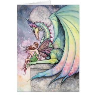 Tarjeta de hadas del dragón por Molly Harrison