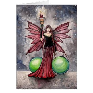 Tarjeta de hadas del navidad por Molly Harrison