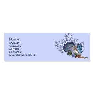 Tarjeta de hadas del perfil de la seta azul del plantilla de tarjeta personal