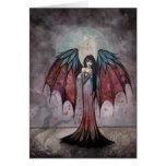 Tarjeta de hadas gótica del arte del vampiro de lo