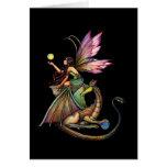 Tarjeta de hadas gótica del dragón por Molly Harri